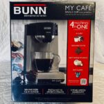 BUNN my café Brews K cups, ground coffee, Soft pods/ teabags, and hot water approx $200
