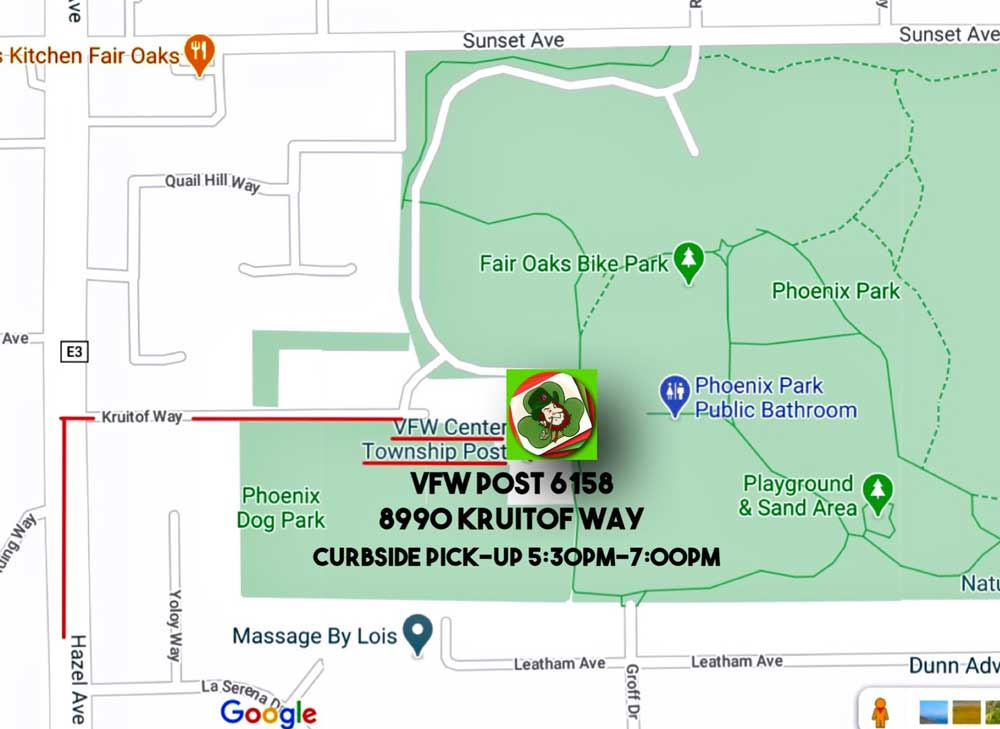 MAP TO PICKUP FOOD