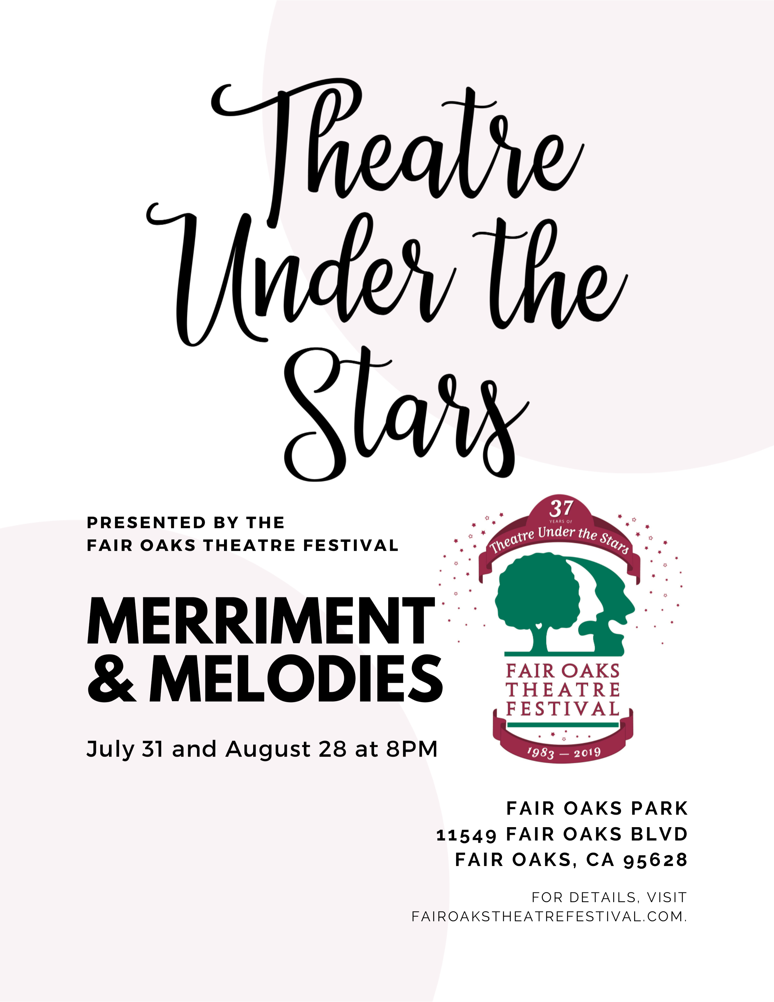 merriment and melodies flyer